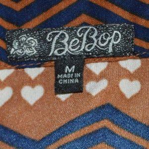 BeBop Dresses - Bebop Hearts and Stripes Sleeveless Dress Sz M